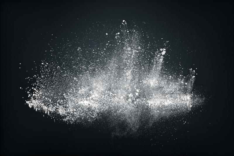 Abstract design of white powder snow cloud stock image