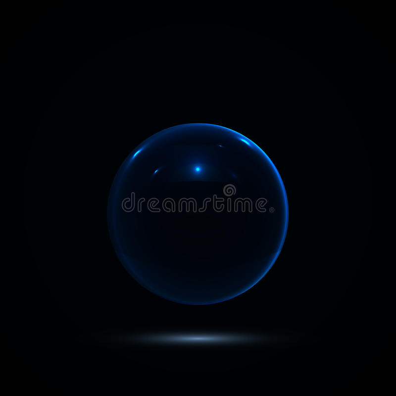 Free Abstract Design With Glass Sphere. Vector Royalty Free Stock Photos - 85804118