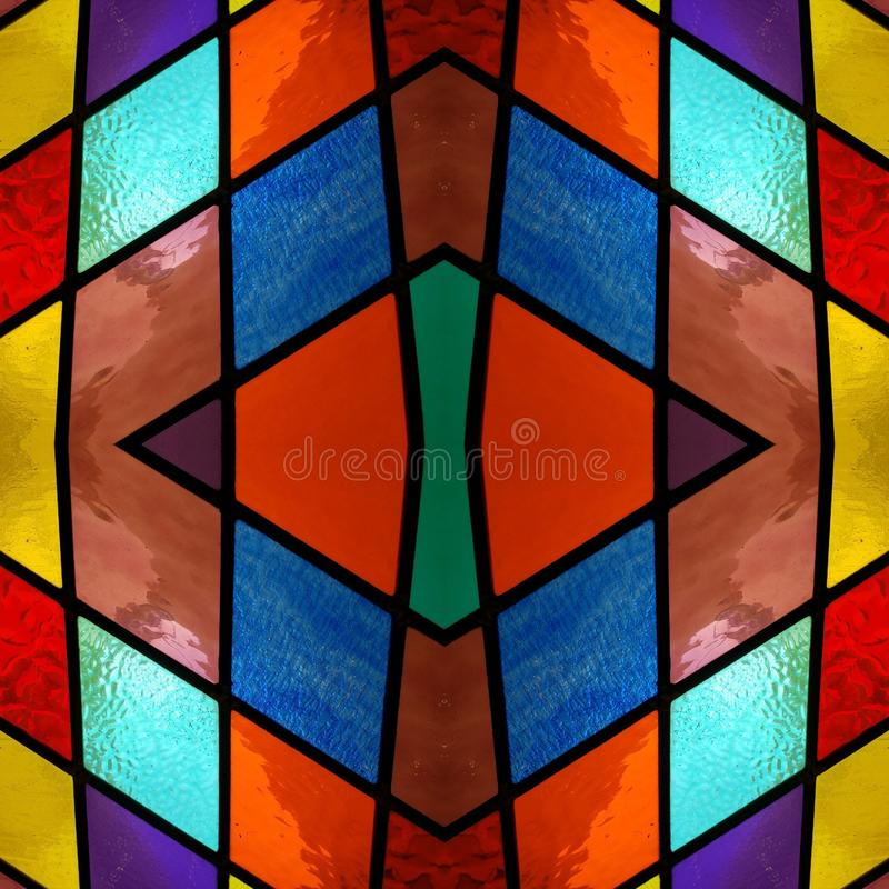 Free Abstract Design With Stained Glass In Various Colors, Material For Decoration Of Windows, Background And Texture Royalty Free Stock Photography - 143871327
