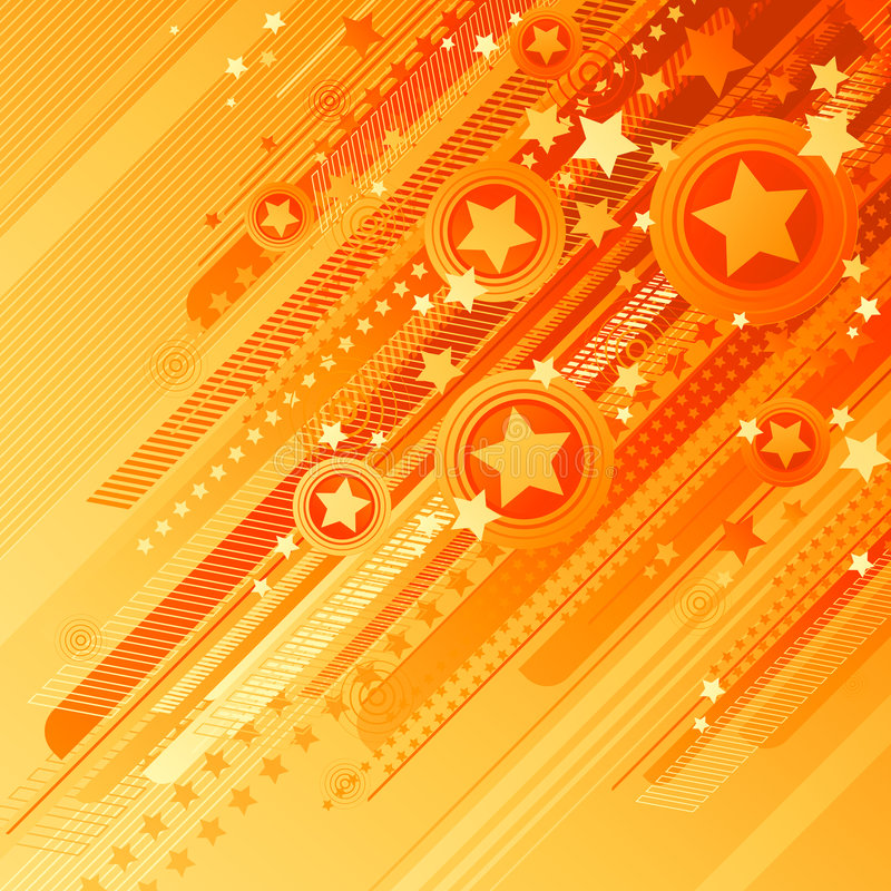 Free Abstract Design With Stars. Royalty Free Stock Photo - 5150395
