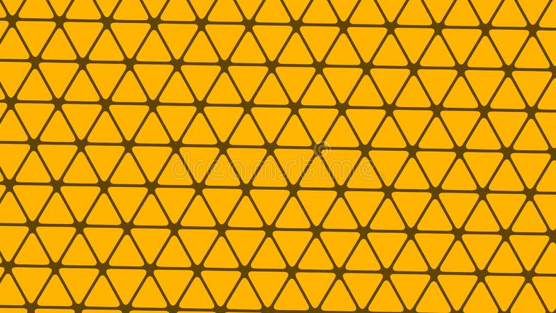 Abstract design, Yellow background, geometric Patterns, texture of Multiple triangles, dark yellow net. A Beautiful Illustration for wallpaper, banners, Web royalty free illustration