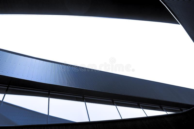 Abstract. Detail of a building in Almere royalty free stock images