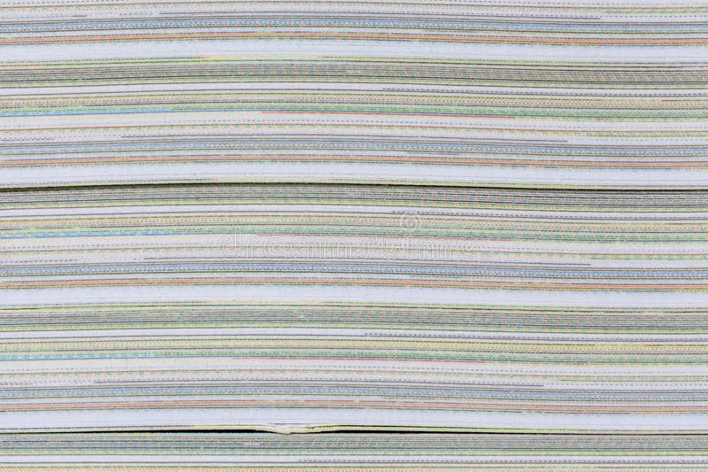 Abstract detail color and layer of book paper pages thick. stock photos