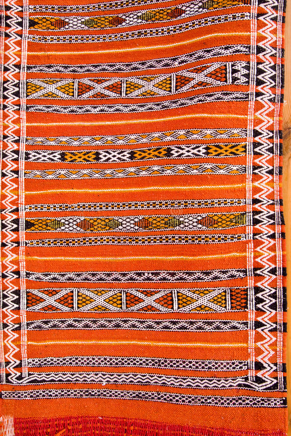 Abstract Detail Of Moroccan Carpet Stock Photo