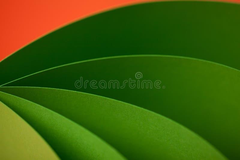 Abstract detail van gegolfte gekleurde document structuur stock fotografie