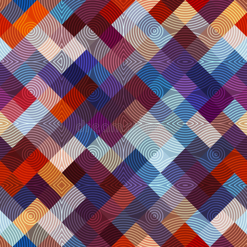 Abstract diagonal geometric pattern. Seamless background pattern. Abstract geometric pattern on diagonal pixels background royalty free illustration