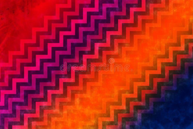 Abstract diagonal zig zag rays background. stock photography