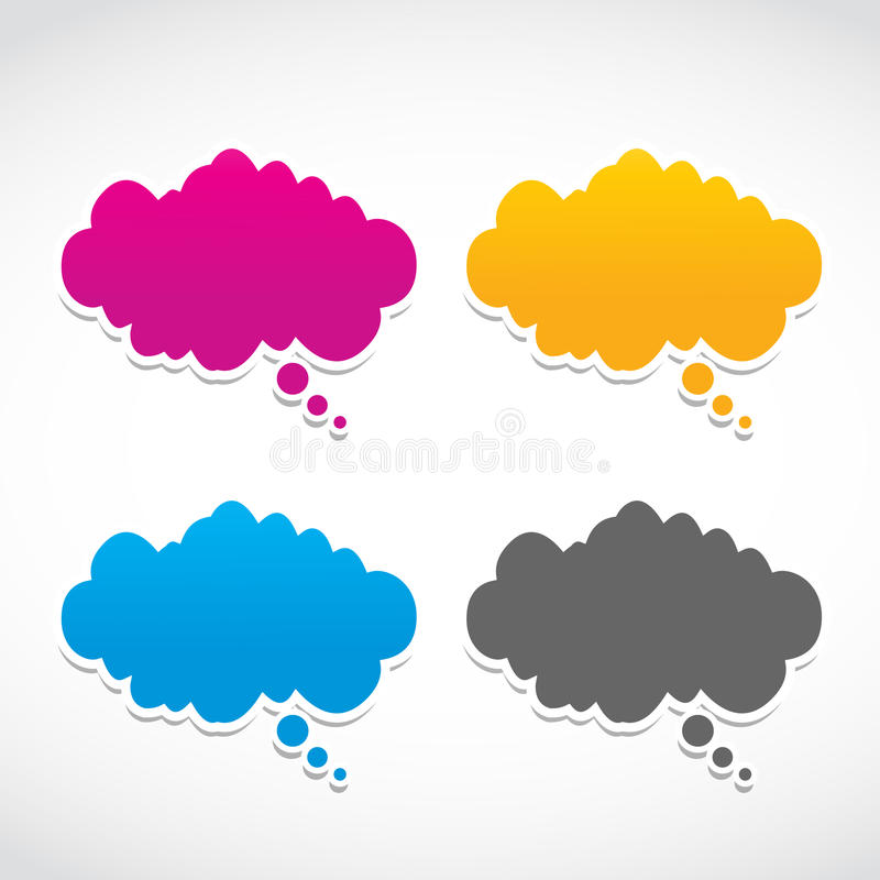 Download Abstract dialog clouds stock vector. Illustration of advertising - 27227812