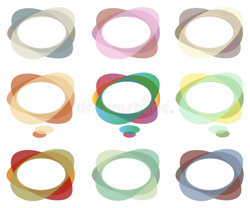 Abstract Dialog Clouds And Speech Bubbles Royalty Free Stock Photo