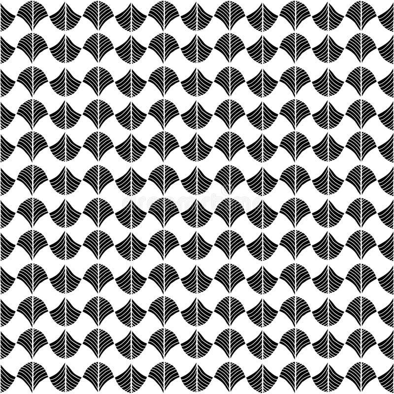 Abstract die patroon op een Traditioneel Afrikaans Ornament wordt gebaseerd Monoch stock illustratie