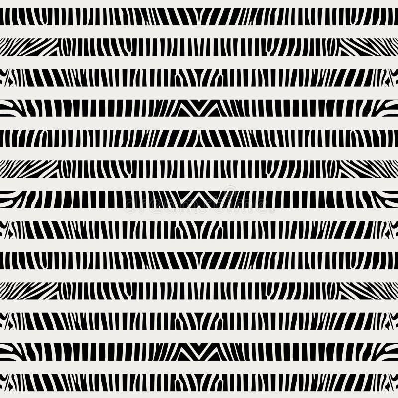 Abstract dierlijk gestreept huid naadloos patroon stock illustratie