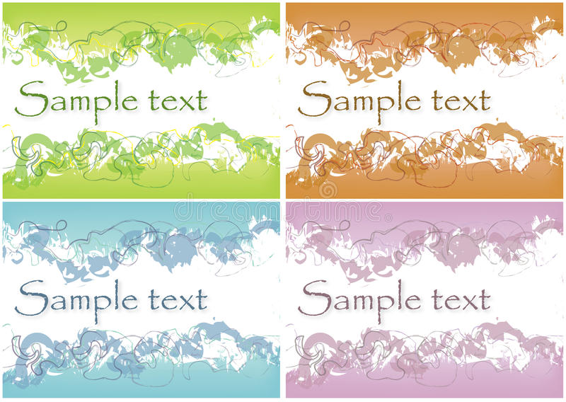 Download Abstract Different Grunge Backgrounds Stock Vector - Illustration: 10498790