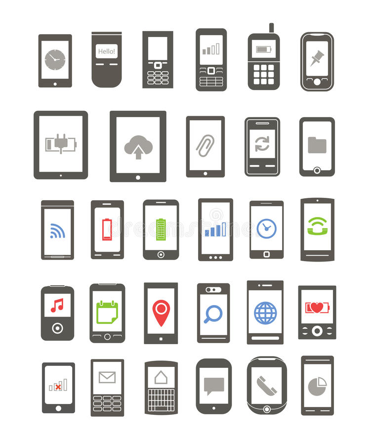 Download Abstract Different Mobile Gadgets Stock Vector - Image: 31094305