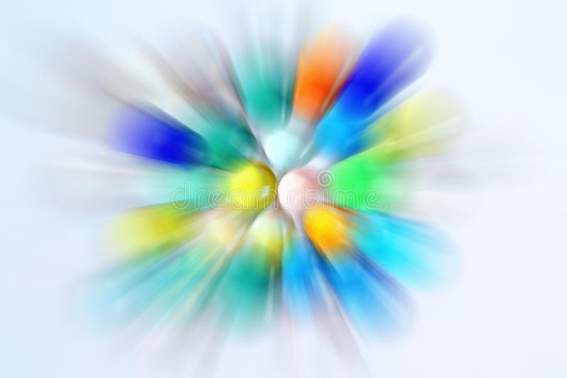 Abstract differently colored balls royalty free stock image