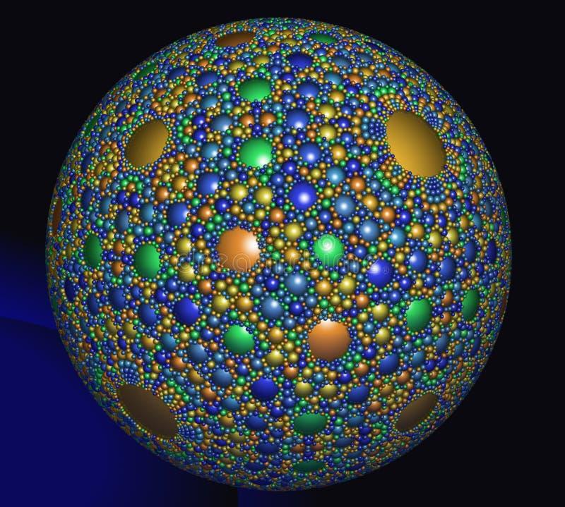 Abstract digitaal kunstwerk Een mooi magisch gebied met een spheri stock illustratie