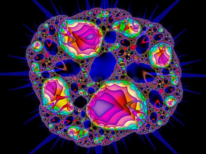 Abstract digitaal kunstwerk Het leven van de microkosmos Kleurrijke microb vector illustratie