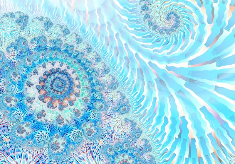 Abstract digitaal kunstwerk Patronen van Aard Magische shells vector illustratie