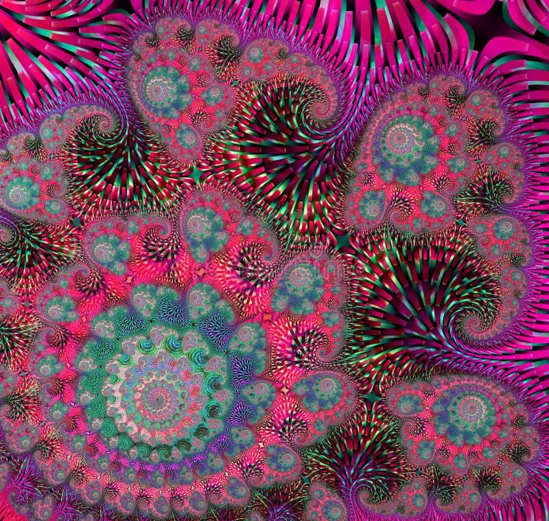 Abstract digitaal kunstwerk Patronen van Aard Magische shells royalty-vrije illustratie