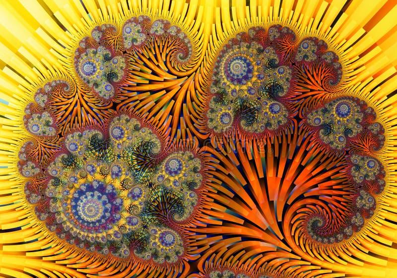 Abstract digitaal kunstwerk Patronen van Aard Magische shells stock illustratie