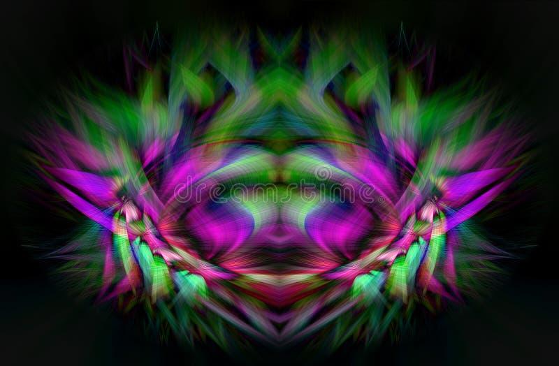 Abstract digital art. Fantastic illustration royalty free illustration