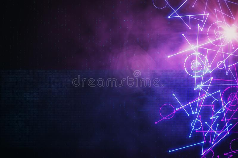 Abstract digital backdrop vector illustration
