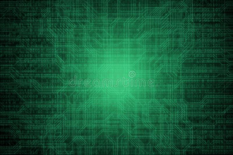 Abstract digital background with binary code. Hackers, darknet, virtual reality and science fiction. stock illustration