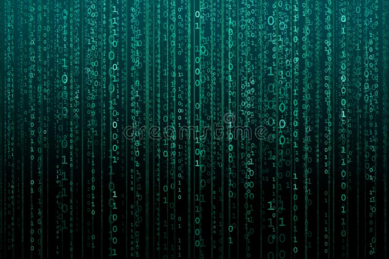 Abstract digital background with binary code. Hackers, darknet, virtual reality and science fiction. stock photo