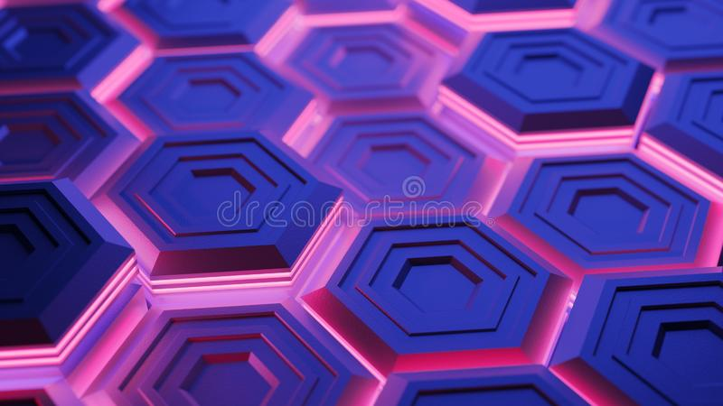Abstract digital background. 3d render stock photo
