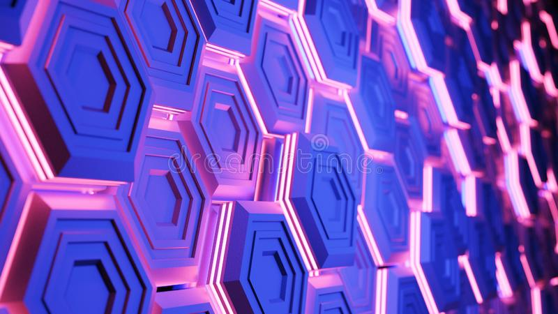 Abstract digital background. 3d render stock image