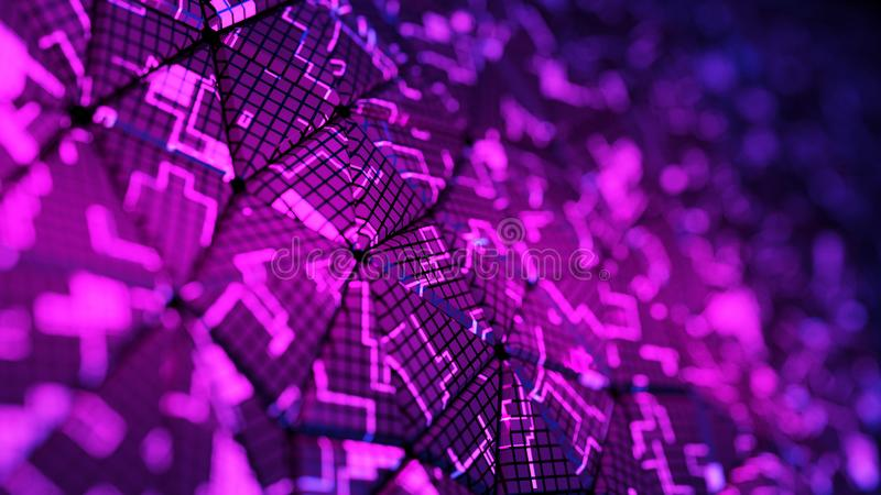 Abstract digital background. 3d render royalty free stock photo