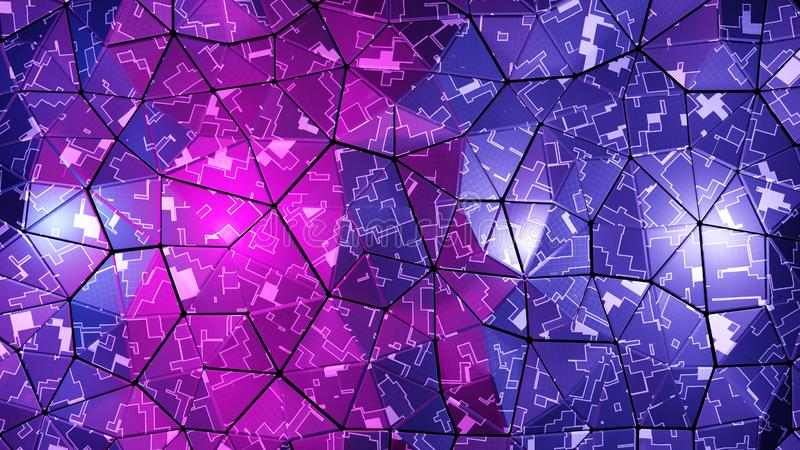 Abstract digital background. 3d render stock photography