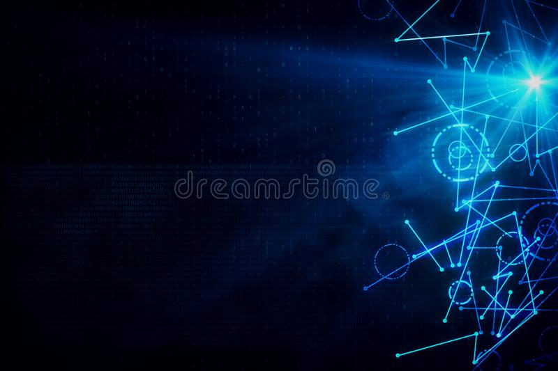 Abstract digital background stock illustration