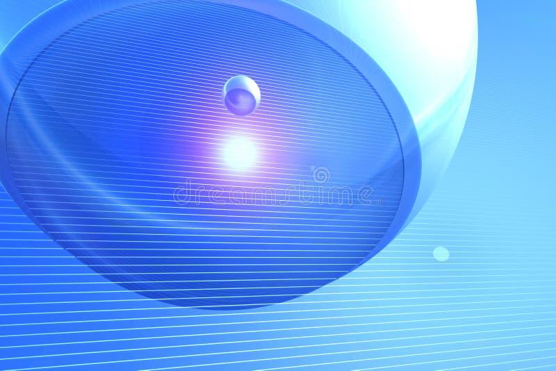 Abstract digital backround - blue stock illustration