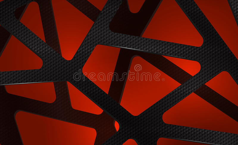 Abstract digital carbon background on red royalty free stock photography
