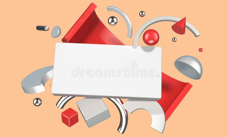 Abstract digital composition with blank place for your content vector illustration
