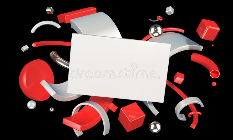 Abstract digital composition with blank place for your content stock illustration