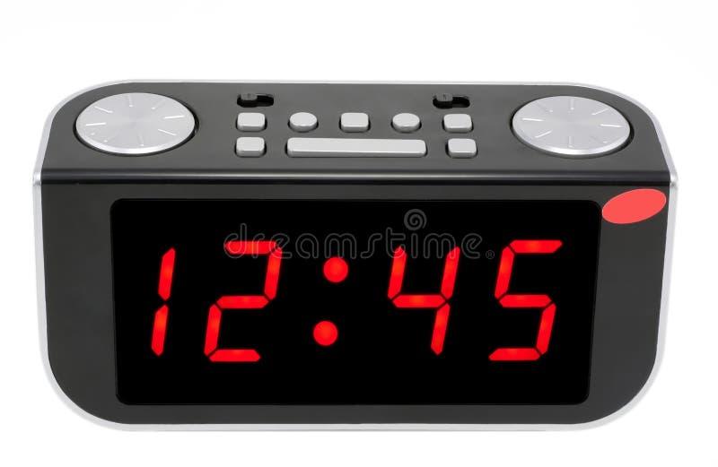 Abstract Digital electronic clock stock photos