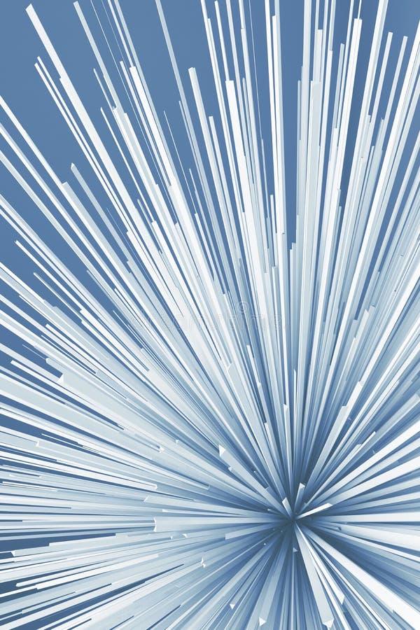 Abstract digital explosion pattern. Blue toned vector illustration