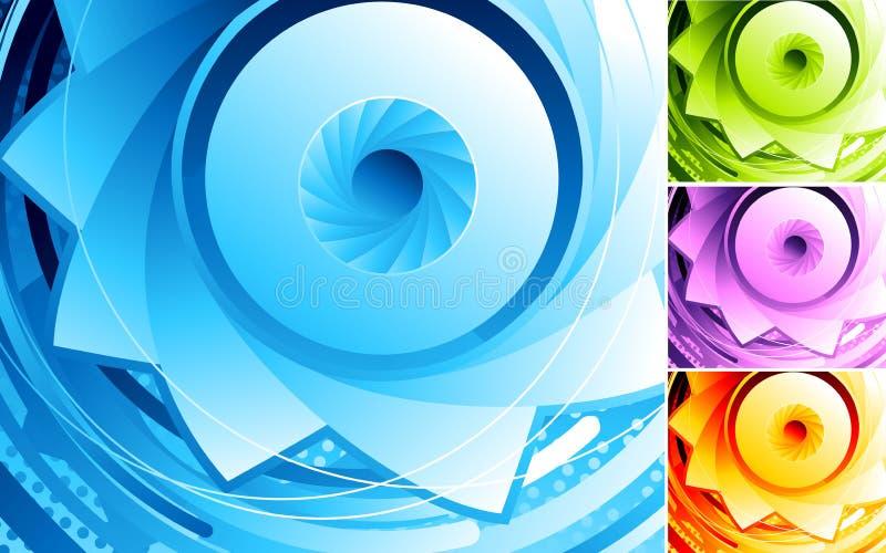 Abstract digital eye. stock illustration