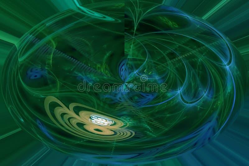 Abstract digital fractal creatshine style explosion surface decoration surreal fantasy magic, dynamic, overlay design futuristic. Abstract digital fractal stock illustration