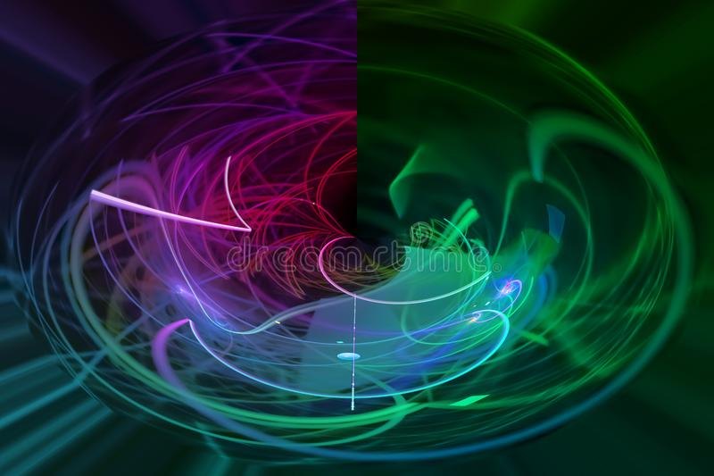 Abstract digital fractal explosion surreal fantasy magic, dynamic, overlay design futuristic. Abstract digital fractal fantasy design vector illustration