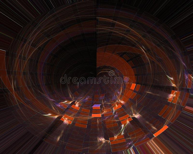 Abstract fractal style vibrant pattern chaos illustration fantasy design background dynamic stock illustration