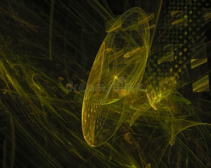 Abstract fractal texture curve dark shape wallpaper banner , backdrop science backdrop. Abstract digital fractal modern surreal backdrop glow shape chaos royalty free illustration