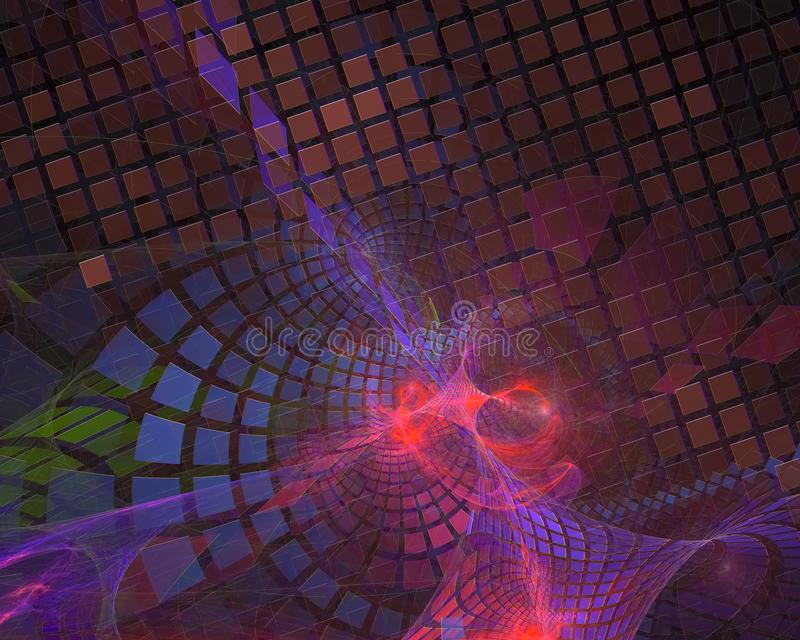 Abstract fractal render texture curve flame dark shape wallpaper banner , backdrop science backdrop. Abstract digital fractal modern surreal backdrop glow shape vector illustration