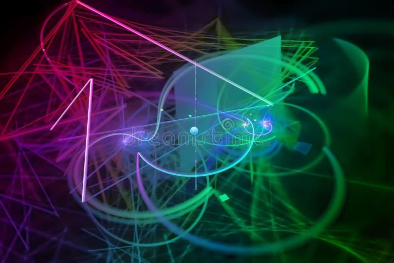Abstract digital fractal shine explosion surface decoration surreal fantasy magic, dynamic, overlay design futuristic. Abstract digital fractal fantasy design vector illustration