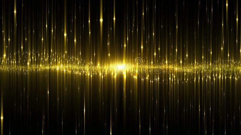 Abstract digital glowing neon light gold color background.  royalty free stock photography