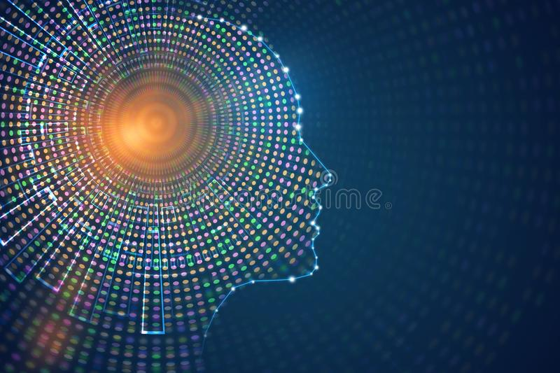 Artificial intelligence concept vector illustration