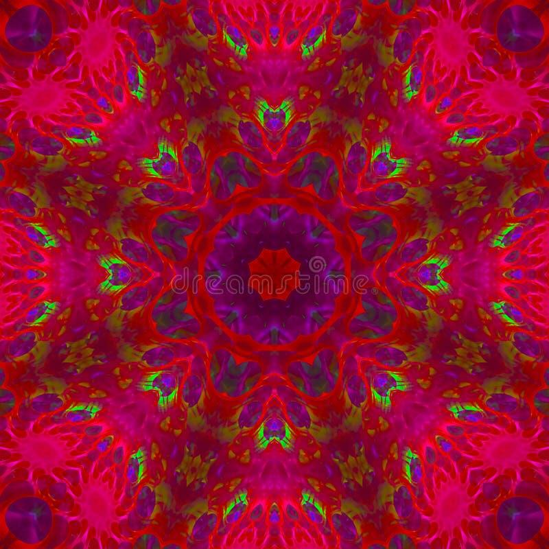 Abstract digital kaleidoscope motif unique background, beautiful design, oriental royalty free illustration