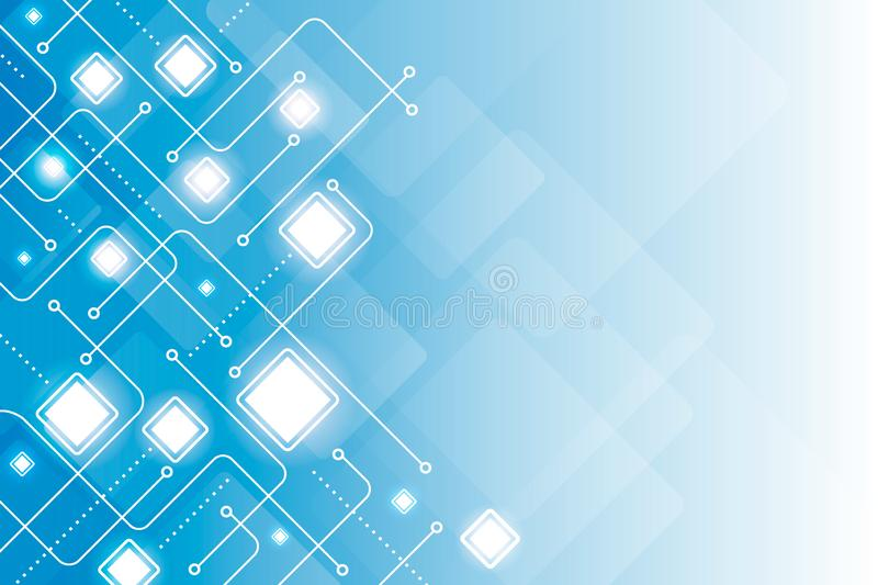 Abstract digital line geometric blue background vector royalty free illustration