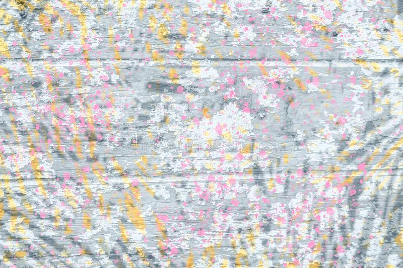 Abstract digital paint pink,black,gray and yellow background royalty free stock photography